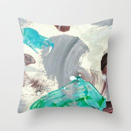 Snowy Walk in the Woods 06 Throw Pillow