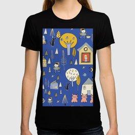 Wonderland Fairy Tale Blue Yellow T-shirt