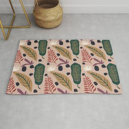 Colorful floral Cut Out Flowers and Shapes VII Rug