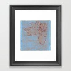 Leaves in Blue II Framed Art Print