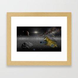 New Horizons space probe in the Kuiper belt Framed Art Print