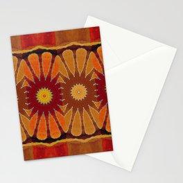Orange flower pattern daisy Stationery Cards