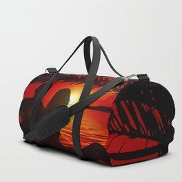 Silhouette Pair Sunset Tree Longing Love Duffle Bag