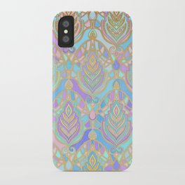 Jade & Blue Enamel Art Deco Pattern iPhone Case