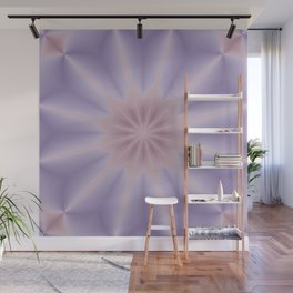 Pink and Lilac 3D Flower Three Wall Mural