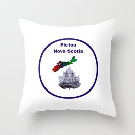 Pictou Nova Scotia Design Throw Pillow