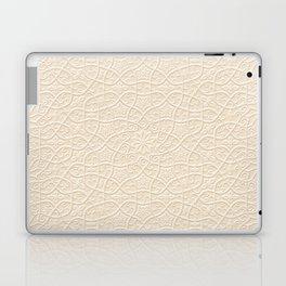 Arabesque Vines 3D - Color: Sahara Sand Laptop & iPad Skin