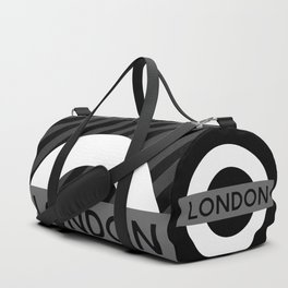 Black and White London Duffle Bag
