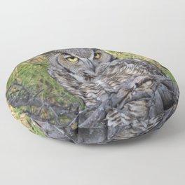 Great Horned Owl Floor Pillow