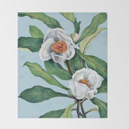 Franklin tree flowers Throw Blanket