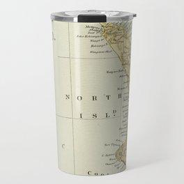 Vintage Map of New Zealand Travel Mug