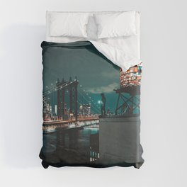 The Water Tower New York City (Color) Duvet Cover