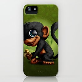 Mr Monkey iPhone Case