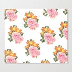 Summer Floral Print Canvas Print