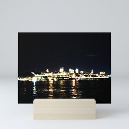 City lights Mini Art Print