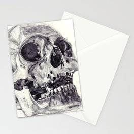 Skull pencil drawing Stationery Cards