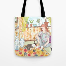 Dutch and Red Tote Bag
