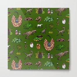 Jurassic pattern Metal Print