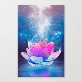 magic lotus flower Canvas Print