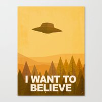 i want to believe Canvas Prints featuring i want to believe by Jorsh Pena