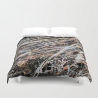 copper Duvet Covers featuring Copper ore by Bruce Stanfield