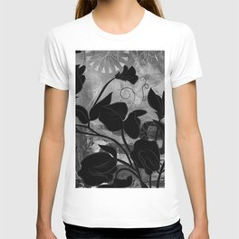 Queen Sweet Pea -- grayscale T-shirt