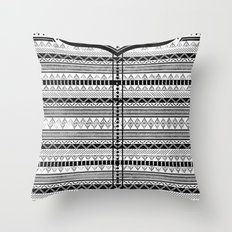 Harry Potter Inspired Tribal Print (Black and White) Throw Pillow