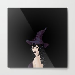Black witch Metal Print