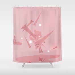 Voyage in Pink Shower Curtain
