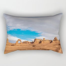Delicate Arch 0414 - Arches National Park, Moab, Utah Rectangular Pillow