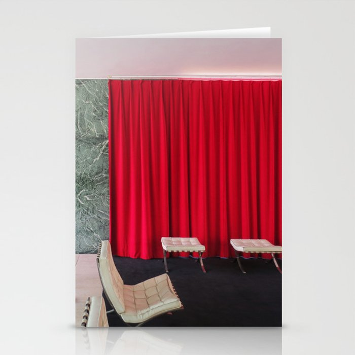 Barcelona\'s German Pavilion Red Curtain by Mies van der Rohe ...