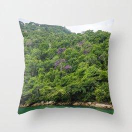 Purple exotic trees Throw Pillow