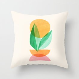 Summer Stack / Abstract Plant Illustration Throw Pillow