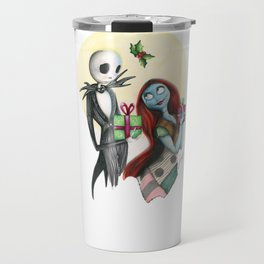 Jack and Sally Merry Christmas Travel Mug