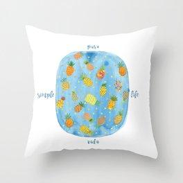 Pineapple Pura Vida Throw Pillow