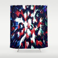radiohead Shower Curtains featuring NO SURPRISES by Chrisb Marquez