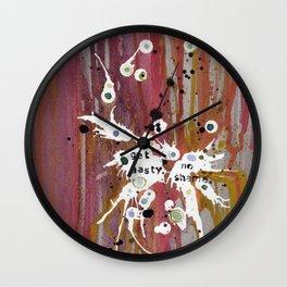 Get Nasty. No Shame Wall Clock
