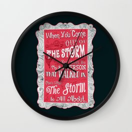 Lab no. 4 storm will change you life Wall Clock