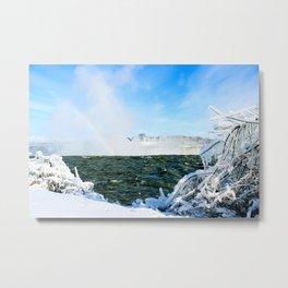 Ice in Niagara Metal Print