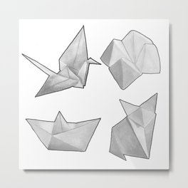 Origami Collection  Metal Print