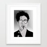 robert downey jr Framed Art Prints featuring Robert Downey Jr by Hayley Williams
