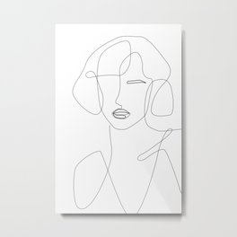Abstract Beauty Outline Metal Print