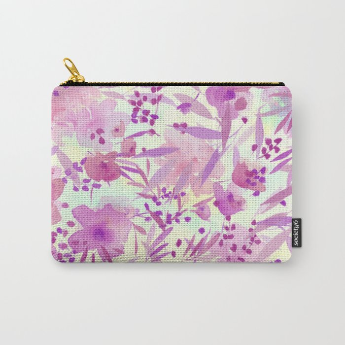 pink pretty flowers Carry-All Pouch