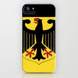 Germany flag emblem iPhone Case