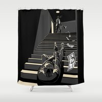 film Shower Curtains featuring Film noir by wonman kim