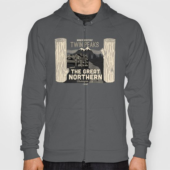 the Great Northern Hotel (Faux Canvas - rust) Hoody