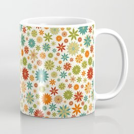 Flower Field Bright Colors on Eggshell Coffee Mug