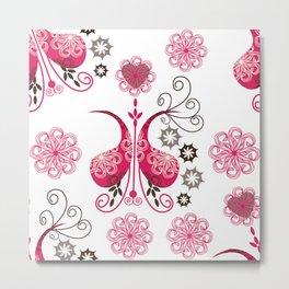 Odd pink Paisley background Metal Print