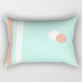 Turquoise & Coral (1) Rectangular Pillow