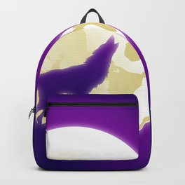 Howling Wolf and Moon Backpack
